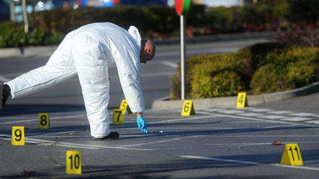 Forensic teams are still at five locations
