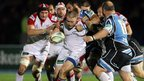 Ulster prop Tom Court surges forward in the Pool 4 encounter