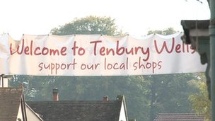 Tenbury Wells sign
