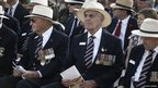 Australian war veterans attend a ceremony at El Alamein, 20 October