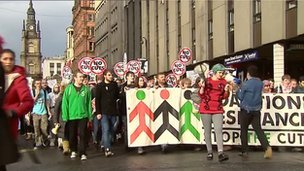 STUC march in Glasgow