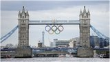 Tower Bridge with the Olympic rings