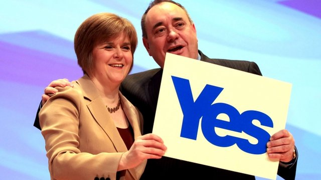 Deputy First Minister Nicola Sturgeon and Scottish First Minister Alex Salmond