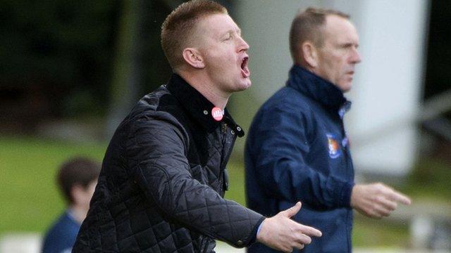 St Johnstone manager Steve Lomas (front)