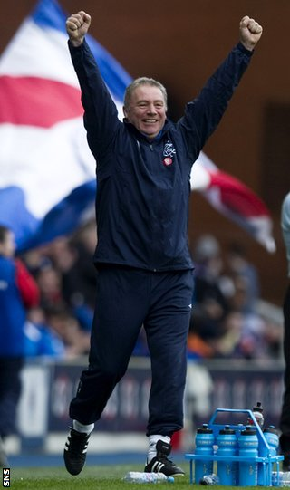 McCoist shows his delight as Rangers go top of Division Three