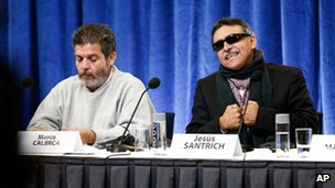 Farc negotiators in Oslo, Calarca and Santrich (18 Oct 2012)