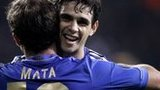 Juan Mata and Oscar celebrate