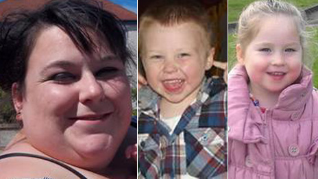Lee-Anna Shiers, 20, her nephew Bailey Allen, four, and his two-year-old sister Skye