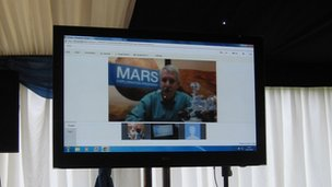 Doug McCuistion, the director of Nasa's Mars exploration programme, spoke to locals