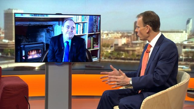 Andrew Marr with Alex Salmond