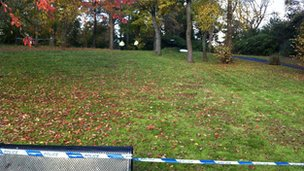 Police cordon close to where body was found in Bellahouston Park