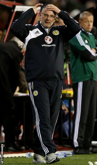Levein is under pressure after four World Cup qualifiers without a victory