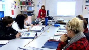 Irene Megaw teaching students