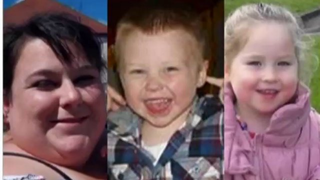 Lee-Anna Shiers, 20, her nephew Bailey Allen, four, and two-year-old niece Skye