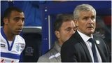 Anton Ferdinand and QPR manager Mark Hughes