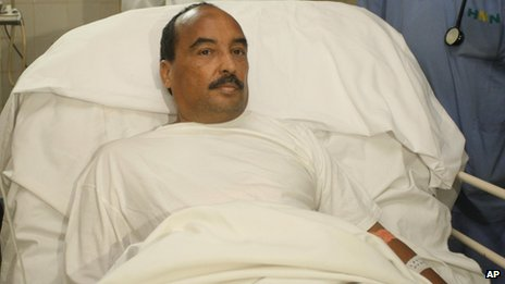 Mauritanian President Ould Abdelaziz in hospital in Nouakchott on 14/10/12 