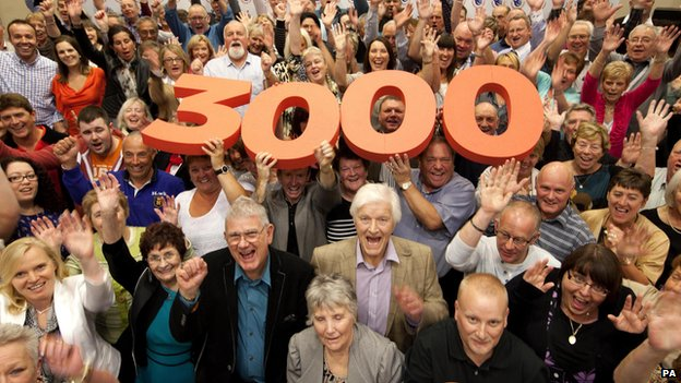 Some of the 3,000 UK lottery winners