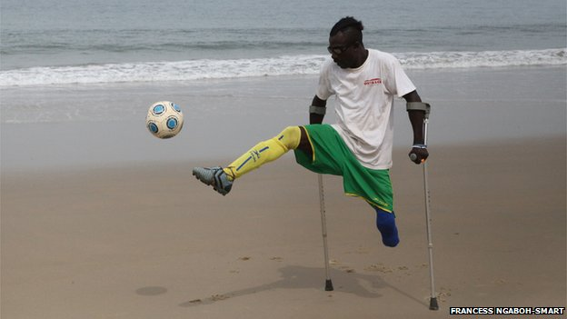 Joseph, the president of the amputee football club