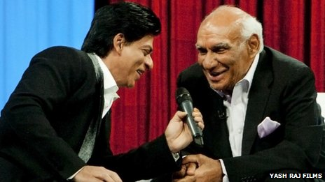 Yash Chopra with Shah Rukh Khan