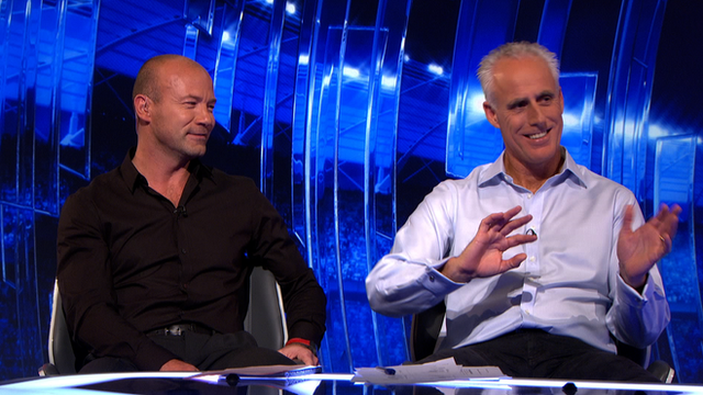 Alan Shearer and Mick McCarthy