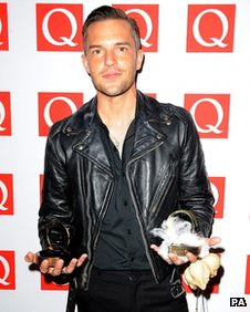 Brandon Flowers at the Q Awards