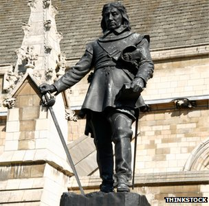 Cromwell statue at Westminster