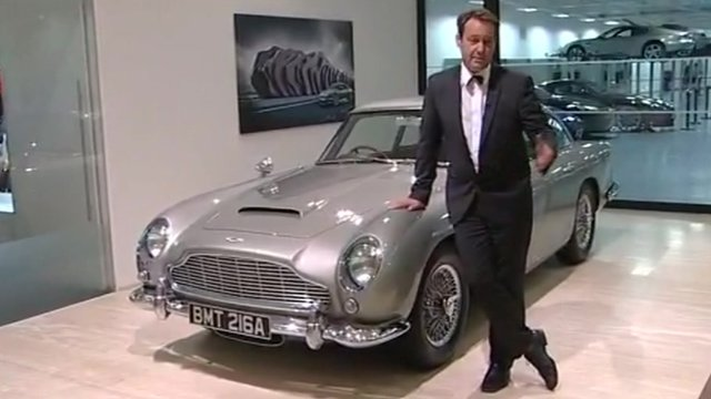 Mike Cartwright with Bond&#039;s Aston Martin
