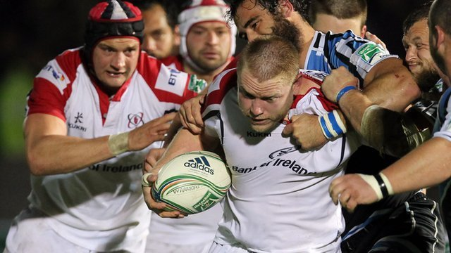 Match action from Glasgow against Ulster
