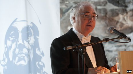 Manuel Castells speaking in Bergen in June, 2012