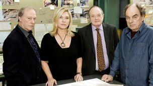 New Tricks cast: (L-R) Gerry Standing (DENNIS WATERMAN), Detective Superintendent Sandra Pullman (AMANDA REDMAN), Jack Halford (JAMES BOLAM), Brian Lane (ALUN ARMSTRONG)
