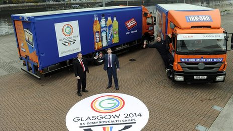 Launch of AG Barr's sponsorship of Glasgow 2014