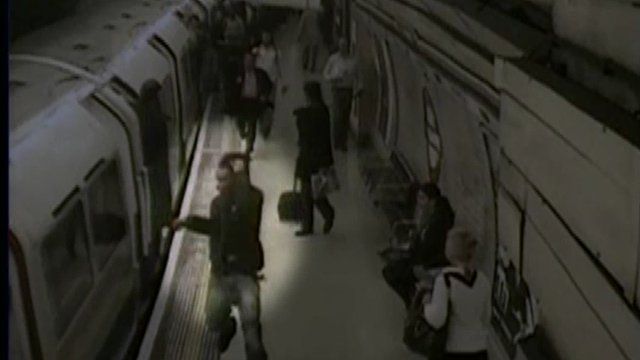 CCTV footage of Tube incident