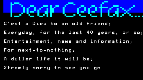 Richard White bids adieu to Ceefax