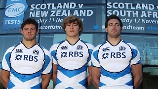 Scotland's (left to right) Ross Ford, David Denton and Sean Lamont