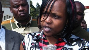 Anne Njeri Otieno outside Eldoret court on 23 October 2012