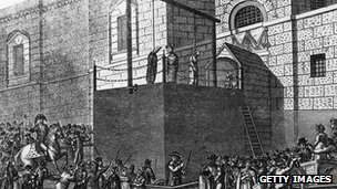 An execution at Newgate Prison, circa 1809
