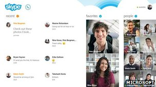 Skype Windows 8 screenshot