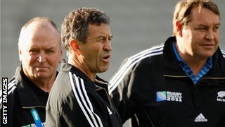 Graham Henry (left), Wayne Smith (centre) and Steve Hansen (right) guided New Zealand to their 2011 World Cup triumph