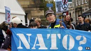 Nato protesters