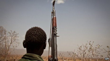 An SPLM-North rebel soldier - April 2012