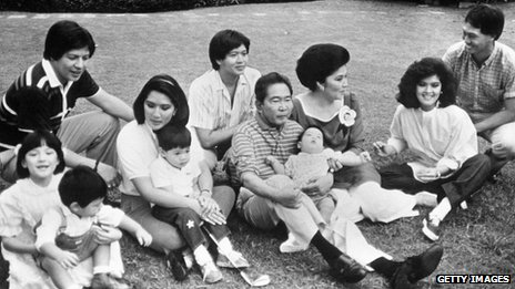 The Marcos family in 1986
