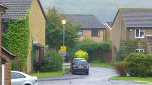 Street light in Ennerdale Close