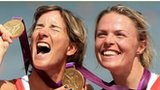 Katherine Grainger and (right) Anna Watkins