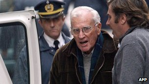 Juan Maria Bordaberry leaving court in June 2005