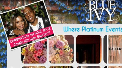 Blue Ivy Events Website