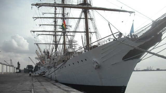 The Argentine frigate, the Libertad