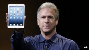 Apple's Phil Schiller with new iPad Mini