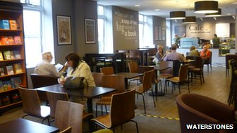 Cafe W inside Waterstones in Norwich