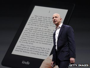 Jeff Bezos and Kindle Paperwhite e-reader