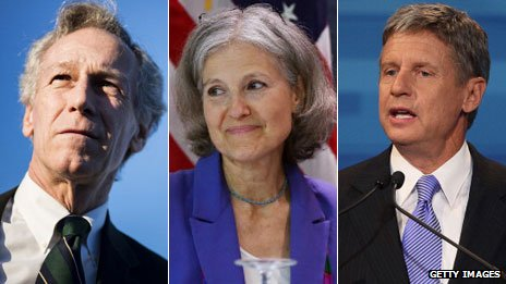 Virgil Goode, Jill Stein and Gary Johnson